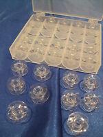 25  Original ELNA - Spulen in Spulenbox für die neuen Elna -Modelle