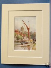 MAIDSTONE THE MEDWAY KENT VINTAGE MOUNTED PRINT 10X8