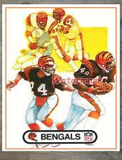 NFL Vintage Cincinnati Bengals  Print Color 16 X 20 Photo Picture
