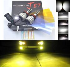 LED Kit X5 50W H16 64219 3000K Yellow Two Bulbs Fog Light Replacement Upgrade OE