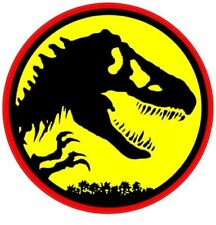 x2 Dinosaur Vinyl Stickers 10cm jurassic T-Rex Monster triceratops retro film