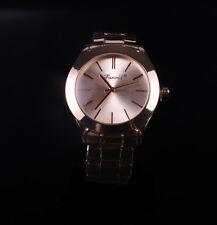 Mariposa Cristal Oro Mujer Chica Niña Blanco Pulsera Cuarzo Reloj De Regalo Rosa