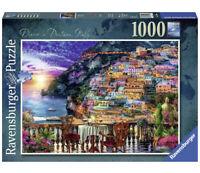 """Premium Ravensburger 1000 Piece Puzzle  """"Dinner In Positano, Italy"""" Complete!"""