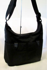 BEAUTIFUL BAGGALLINI BLACK NYLON DOUBLE POCKET CROSSBODY SHOULDER BAG PURSE