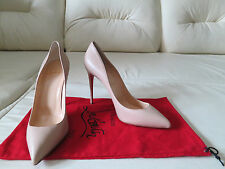 NEW Christian Pigalle 100 Pointy Nude Blush 1 Leather Pumps 40 10 9.5 So Kate