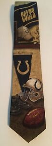 Indianapolis Colts 100% Silk Necktie Tie - Nostalgia 2 Design