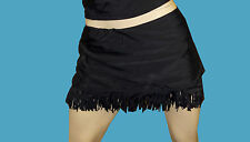 NWT LADIES Jessica Simpson BLACK FRINGE bathing suit swimsuit SWIMSKIRT sz - 3X