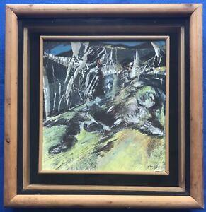 Original Irish Art Mixed Media Modern Abstract Painting Clifford 'Cliff' Brooks