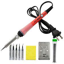 Soldering Iron Kit 60W 110V Temperature Adjustable Solder Gun with Tips BF802