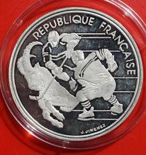 France-Frankreich: 100 Francs 1991 Silber, KM# 993, Proof, #F1482, Albertville