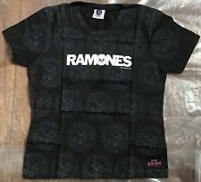 The Ramones All Over Seal Girlie Medium Black T Shirt NEW Official
