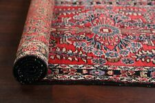 Vintage Red Floral Lilihan Hamedan 9 ft Runner Rug Hallway Wool 9' 5'' x 2' 9''