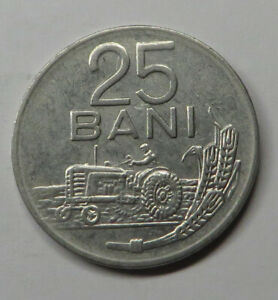Romania 25 Bani 1966 Nickel Clad Steel KM#94 UNC