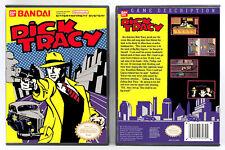 Dick Tracy - Nintendo Nes Custom Case *No Game*