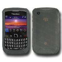 NEW AMZER GREY SILICONE SOFT SKIN JELLY CASE FOR BLACKBERRY CURVE 8530/3G 9300