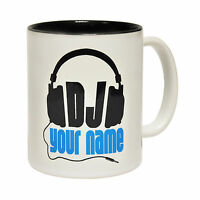 DJ Your Name Personalised Design Novelty Rave House Club MUG cup birthday funny