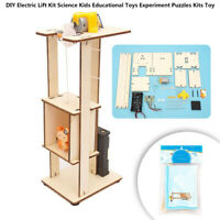 DIY Electric Lift Kit Science Kids Educational Toy Experiment Puzzles Kit Toy MA