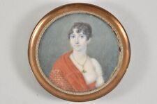 k21m42- Empire Miniatur Porträt Gouache um 1810