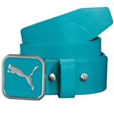 Puma Golf Youth Square Fitted Leather Belt -Color Scuba Blue-Select Size