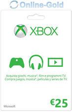 Xbox Live Tarjeta Regalo 25 Euro - Microsoft Xbox 360 One €25 Eur código [ES/EU]