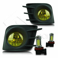 11-13 Scion TC Fog Lights w/Wiring Kit & High Power COB LED Bulbs - Yellow