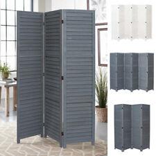 3/4/6 Panels Wooden Slat Privacy Screen Folding Room Divider Partition Furniture