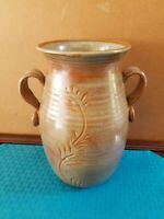 "Beautiful Vintage MCM Gerald Patrick 10"" Studio Art Pottery Large vase SIGNED"