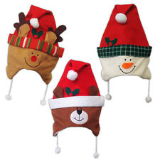 Children's Christmas Party Reindeer Snowman Teddy Character Fancy Dress Hat