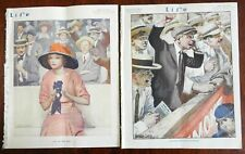 Baseball Number 1913 Life Magazine lot x 2 issues Horse Racing sport stadiums