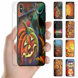 For OPPO Series - Halloween Print Tempered Glass Back Case Mobile Phone Cover #2