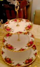 CAKE STAND  ROYAL ALBERT THREE TEIR CAKE STAND  1962- OUTSTANDING