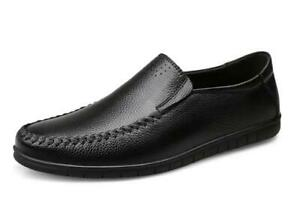 Men Faux Leather Low Top Shoes Driving Moccasins Business Loafers Slip On Casual