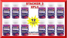 Stacker 3 XPLC Herbal Weight Loss 20 Capsules (Lot 12 X Bottles) = 240 Exp.10/21
