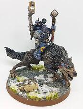 WARHAMMER 40K Space Wolves FERRO SACERDOTE thunderwolf conversione dipinto