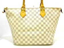 Auth LOUIS VUITTON Saleya MM N51185 Azur Damier FL1027 Handbag