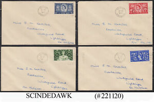 GREAT BRITAIN - 1953 QEII CORONATION SET OF 4 FDC