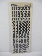 10 FOGLI TRASFERELLI TRASFERIBILI VIBO FENIX NERO 712 MM 12.5 NUMERI NERO