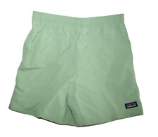 """NEW Patagonia Child Boy's Baggies Solid 5"""" Shorts EXTRA LARGE 14 XL Swim Green"""