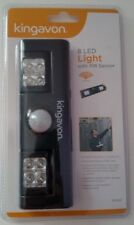 Kingavon 8 LED Light with PIR Sensor Black Garden Garages