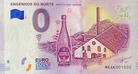 BILLET 0  EURO  ENGENHOS DO NORTE MADEIRA  PORTUGAL 2018  NUMERO 1000