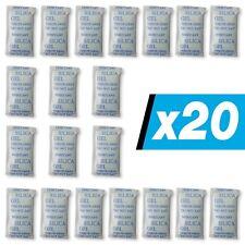 20 x 10 g E-Cron Silikagel-Päckchen. Luftentfeuchter- Beutel mit Silikagel