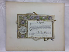 Vtg Woman's Board Of Missions Of the Interior Membership Certificate 1891 Church