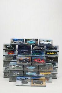 Job Lot Of 40x GE Fabbri 007 James Bond Die Cast Model Cars 1:43 Scale In Cases
