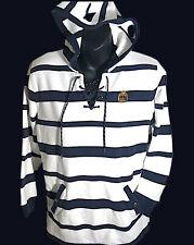 New listing Vtg Woman's Polo Ralph Lauren Rugby Stripe Hoodie Sweatshirt Usa Rare Petite