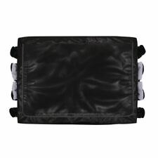 More details for rubbermaid cart cover in black made of vinyl for 300l 228 x 889 x 666mm