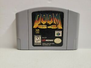 Doom 64 Nintendo 64 N64 Authentic Tested & Working Fast Shipping