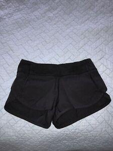 Ivivva by Lululemon Girls Black Speedy Shorts-Size 7