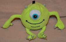 """5"""" Mike Wazowski From Monsters Inc. Pouch Plush Dolls Toys Bag Holder Zip Up"""