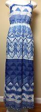 Old Navy  Women's Blue Chiffon  Spaghetti Strap Maxi Dress Size XS