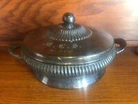 Vintage Rogers Smith & Co Meriden Ct Quadruple Plate 2109 Casserole Dish
